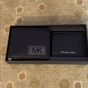 Michael Kors Wallet card and card case boxed set
